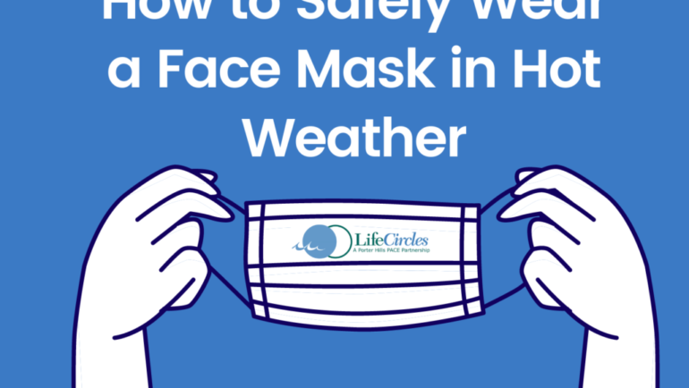 Tips for Safely Wearing a Face Mask as Temperatures Rise.